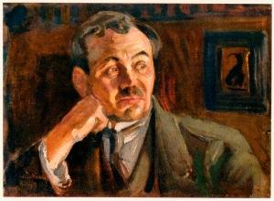 Portrait of Leino by Akseli Gallen-Kallela, 1917