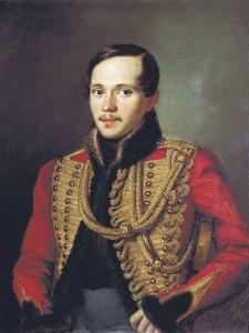Portrait of Lermontov by Pyotr Zabolotsky, 1837