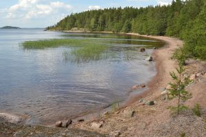"""Hietasaari, Lake Saimaa"" by Timo Saarinen - Own work. Licensed under CC BY-SA 4.0 via Commons - https://commons.wikimedia.org/wiki/File:Hietasaari,_Lake_Saimaa.JPG#/media/File:Hietasaari,_Lake_Saimaa.JPG"