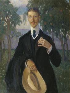 Portrait of Nikolai Gumilev by Kardovskaya, 1909