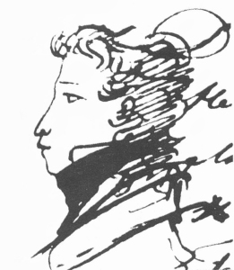 Pushkin_Alexander,_self_portret,_1820s