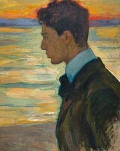 Boris beside the Baltic at Merekule, 1910, by Leonid Pasternak