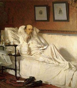 Nekrasov approaches death: portrait by Ivan Kramskoy