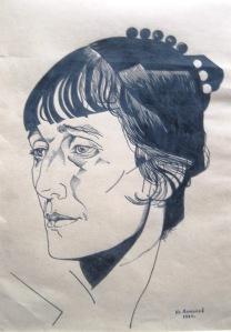 Portrait of Anna Akhmatova, Yuri Annenkov