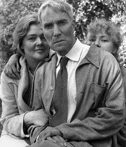 Boris Pasternak with Olga Ivinskaya and her daughter, Irina Emelyanova, 1957