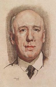 Portrait of Fyodor Sologub by Konstantin Somov, 1910