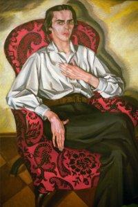 Portret-Vladislava-Khodasevicha-kisti-ego-plemyannitsy-Very-Khodasevich-full