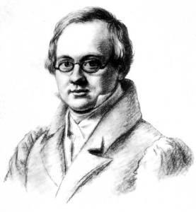 Portrait of Anton Delvig, 1830, by Valerian Platonovich Langer