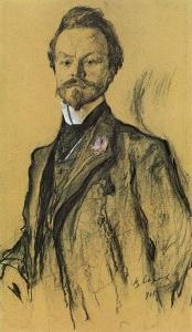 Konstantin Balmont by Valentin  Serov, 1905